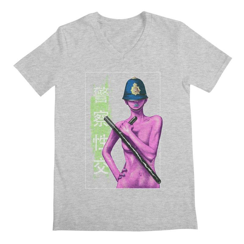 Mrs Officer Men's V-Neck by Astronauta Store