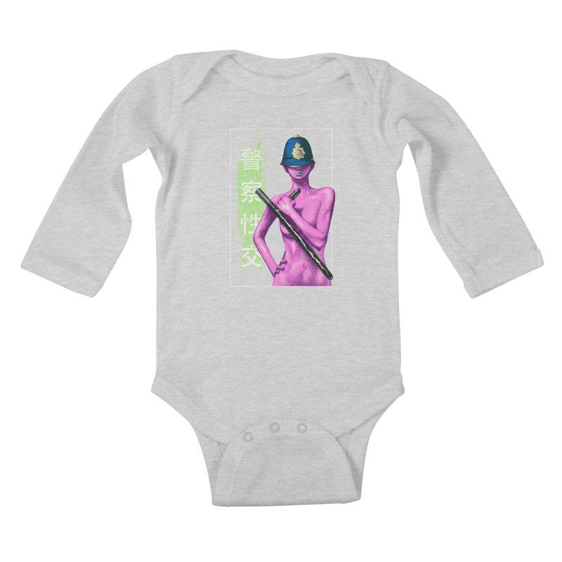 Mrs Officer Kids Baby Longsleeve Bodysuit by Astronauta Store