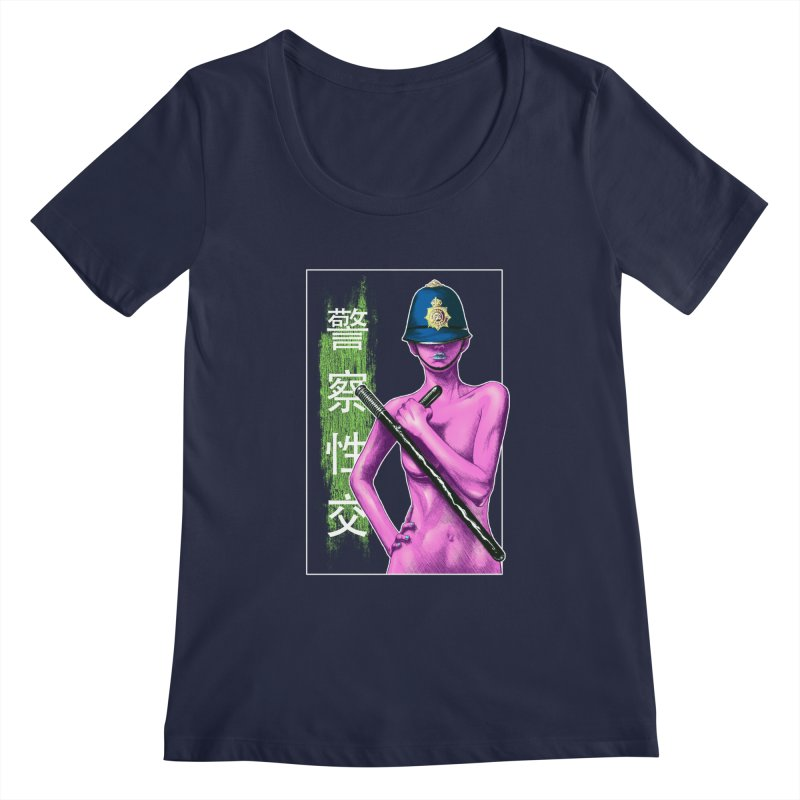 Mrs Officer Women's Scoopneck by Astronauta Store
