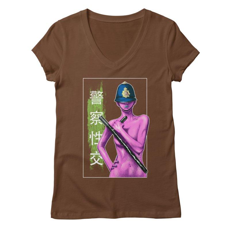 Mrs Officer Women's V-Neck by Astronauta Store