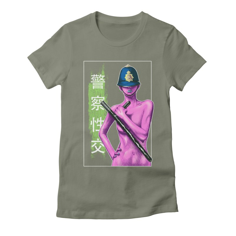 Mrs Officer Women's Fitted T-Shirt by Astronauta Store