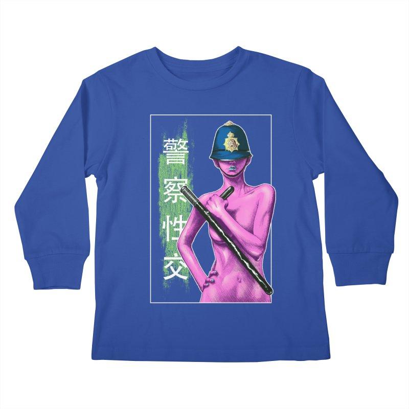 Mrs Officer Kids Longsleeve T-Shirt by Astronauta Store