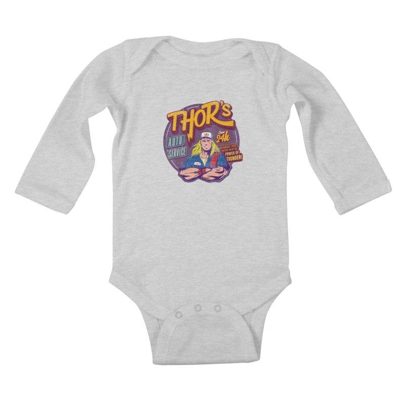 Thor's Auto Service Kids Baby Longsleeve Bodysuit by Astronauta Store