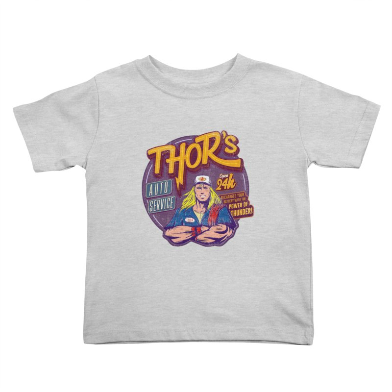 Thor's Auto Service Kids Toddler T-Shirt by Astronauta Store
