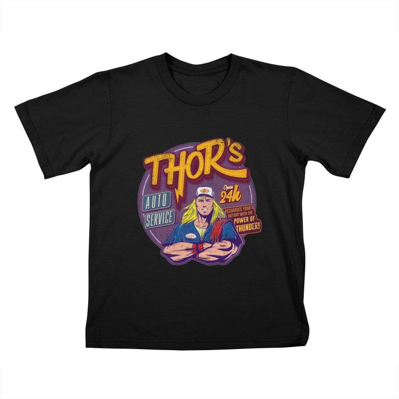 Thor's Auto Service Kids T-shirt by Astronauta Store
