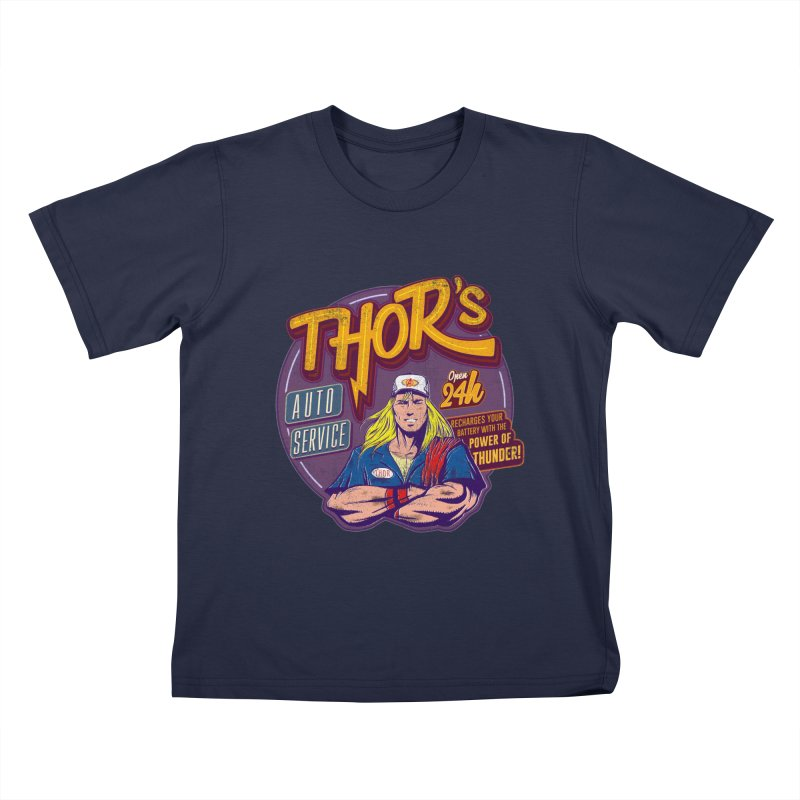 Thor's Auto Service Kids T-Shirt by Astronauta Store