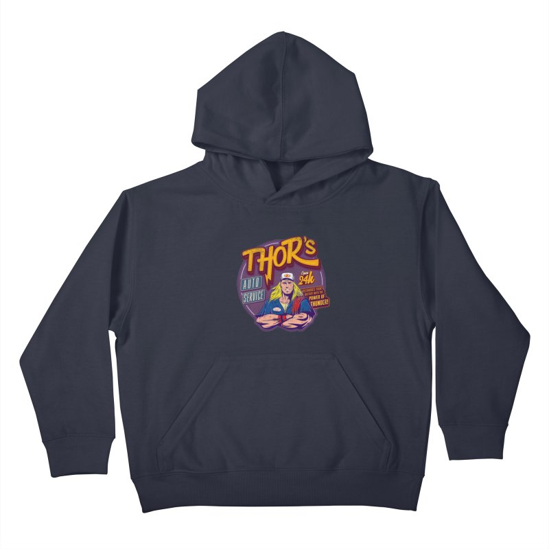 Thor's Auto Service Kids Pullover Hoody by Astronauta Store
