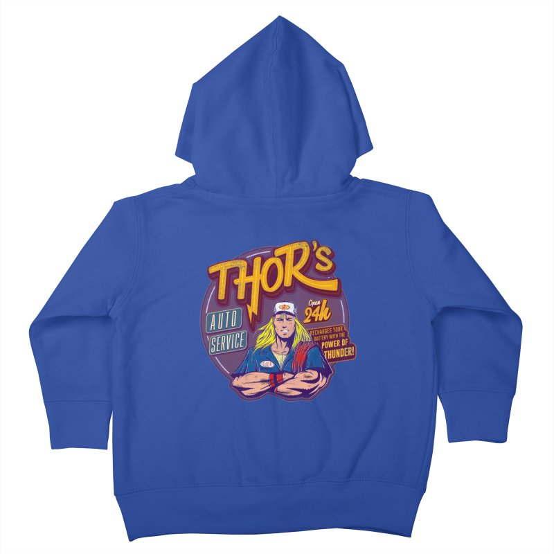 Thor's Auto Service Kids Toddler Zip-Up Hoody by Astronauta Store