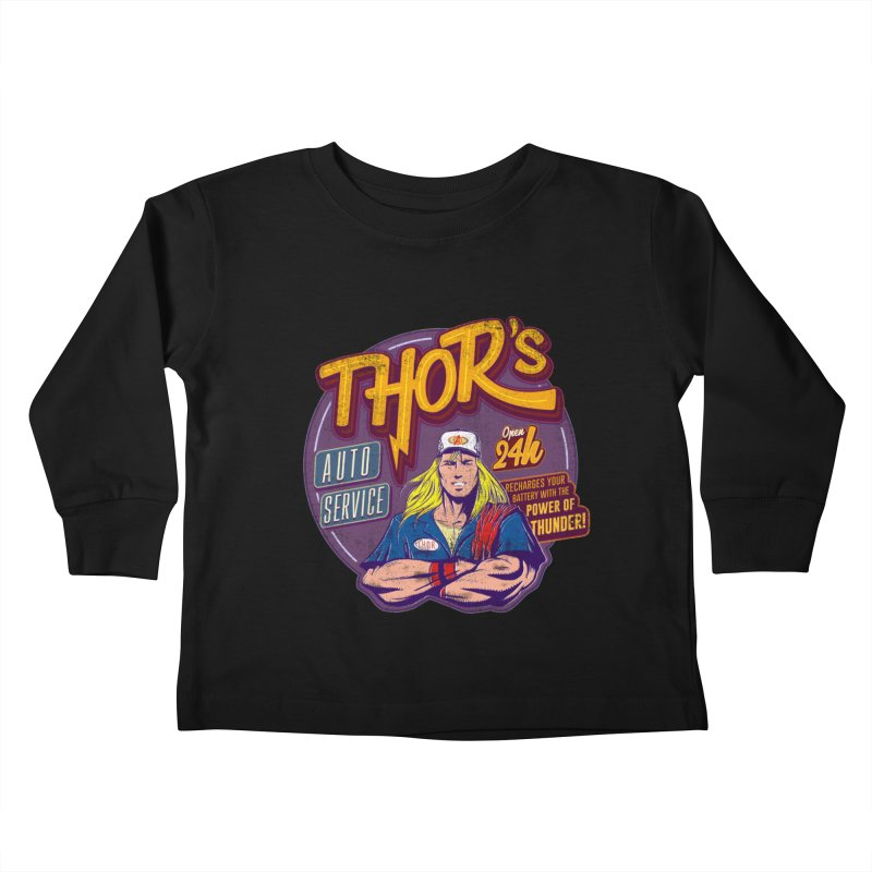 Thor's Auto Service Kids Toddler Longsleeve T-Shirt by Astronauta Store