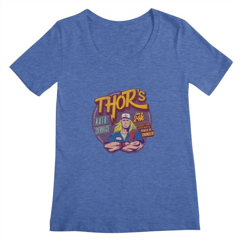 Thor's Auto Service Women's Scoopneck by Astronauta Store