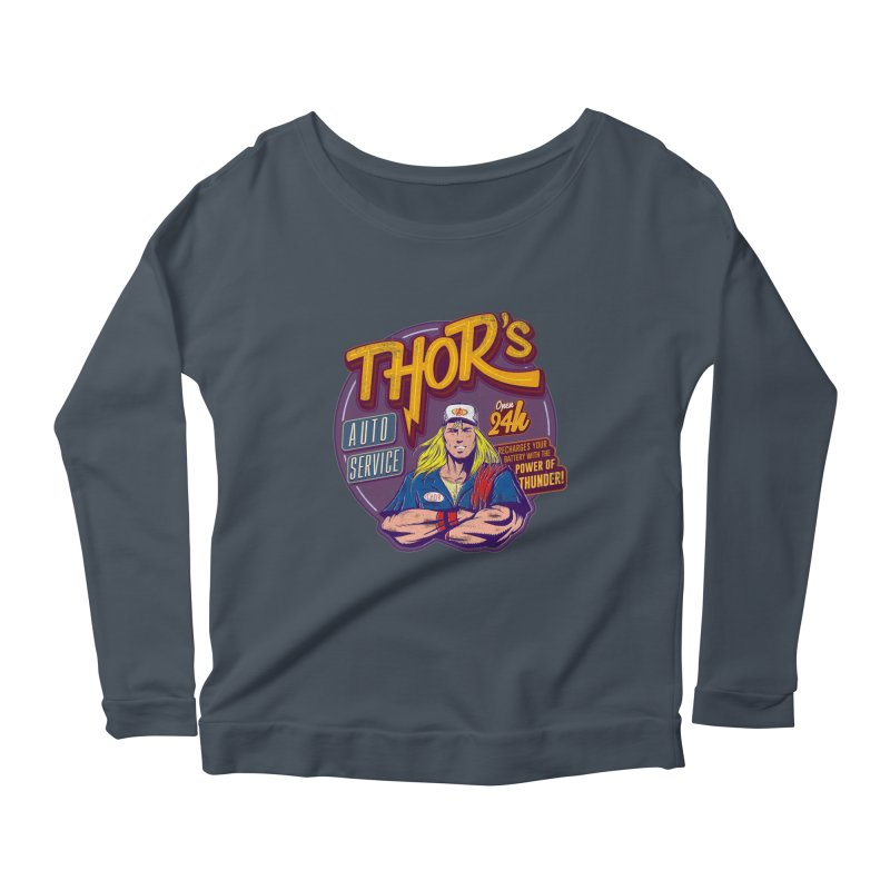 Thor's Auto Service Women's Longsleeve Scoopneck  by Astronauta Store