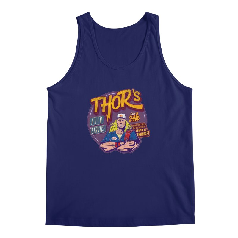 Thor's Auto Service Men's Tank by Astronauta Store
