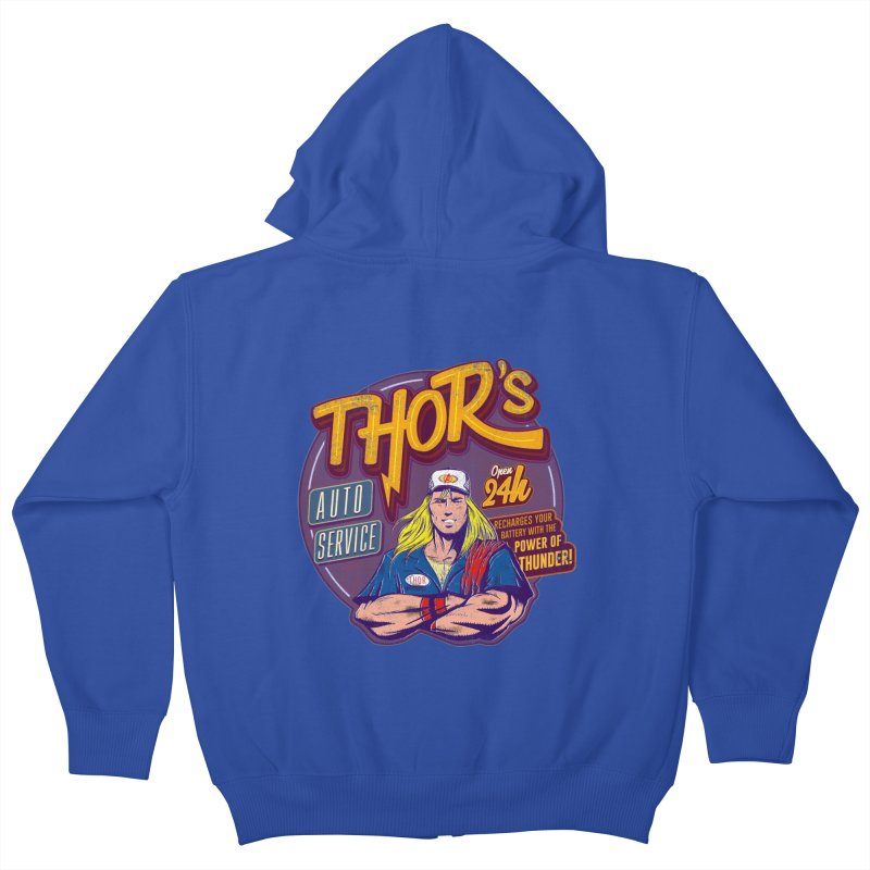 Thor's Auto Service Kids Zip-Up Hoody by Astronauta Store