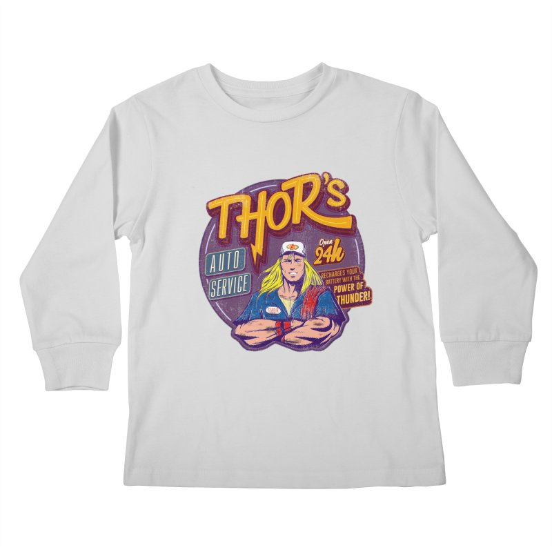 Thor's Auto Service Kids Longsleeve T-Shirt by Astronauta Store
