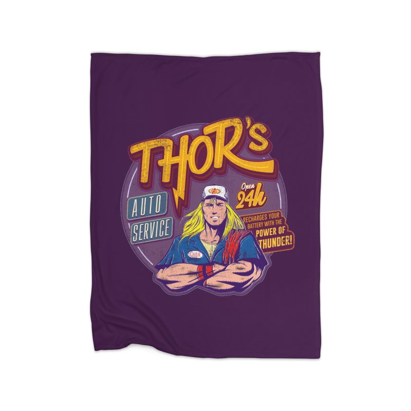 Thor's Auto Service Home Blanket by Astronauta Store