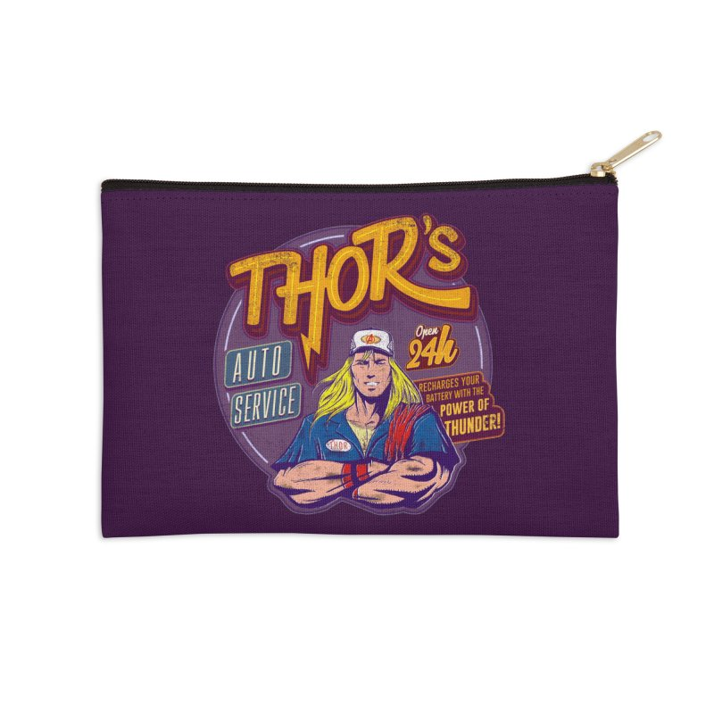 Thor's Auto Service Accessories Zip Pouch by Astronauta Store