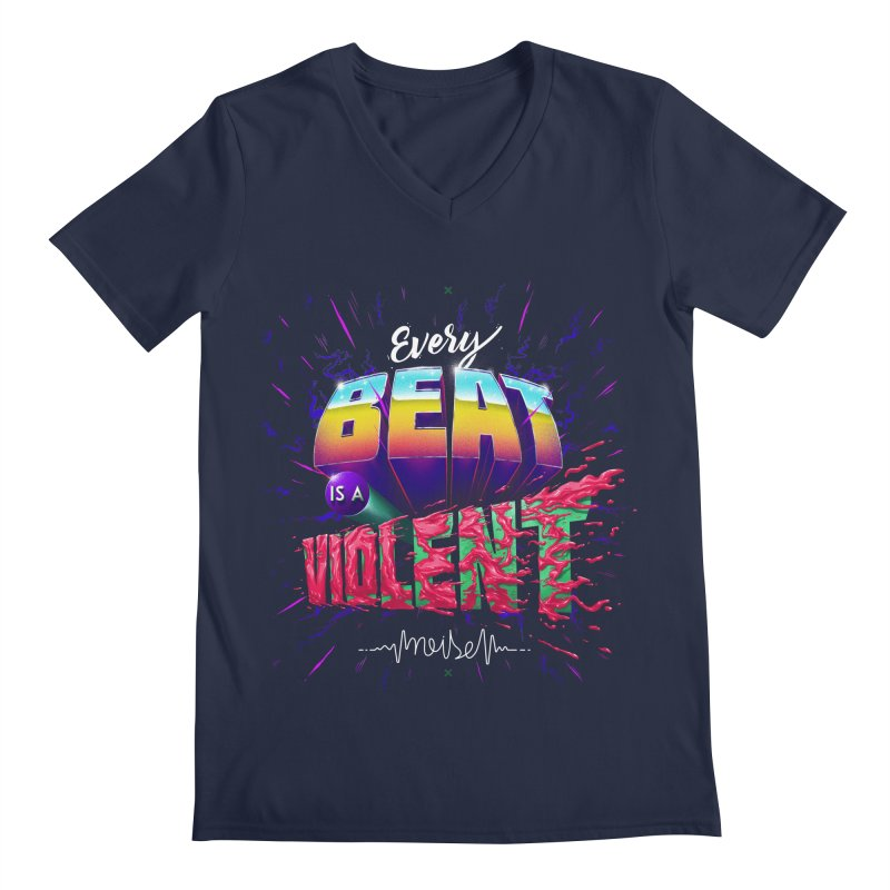 A Violent Noise Men's V-Neck by Astronauta Store