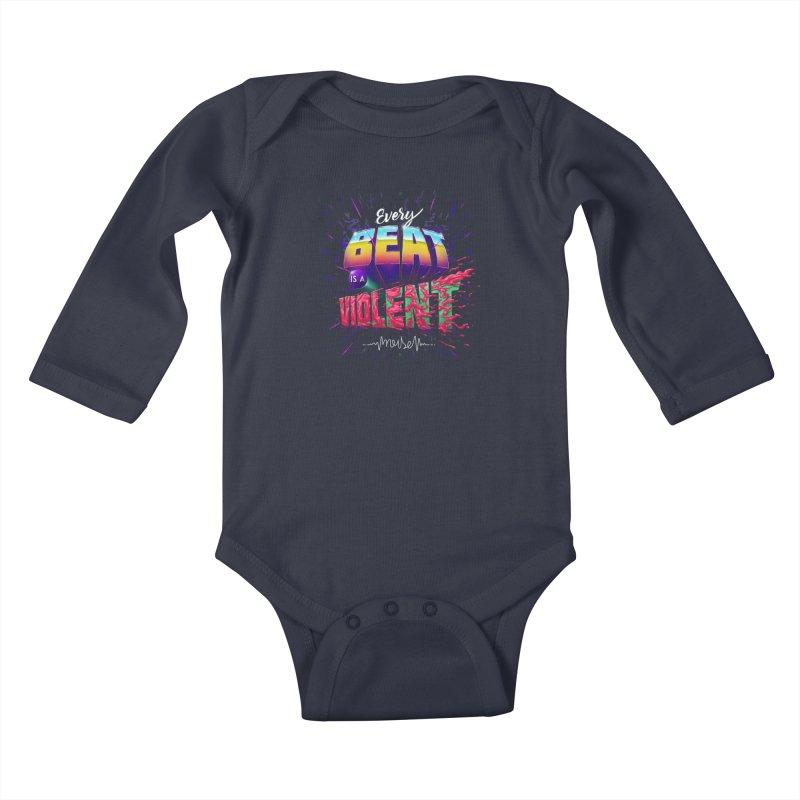 A Violent Noise Kids Baby Longsleeve Bodysuit by Astronauta Store