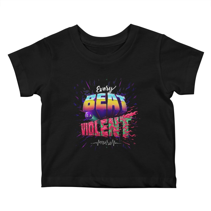 A Violent Noise Kids Baby T-Shirt by Astronauta Store