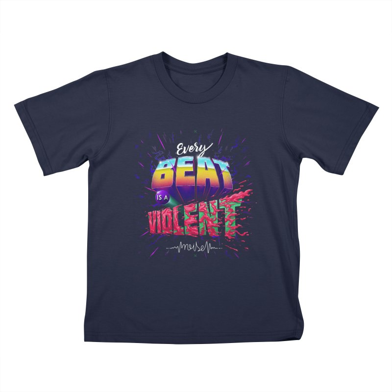 A Violent Noise Kids T-shirt by Astronauta Store