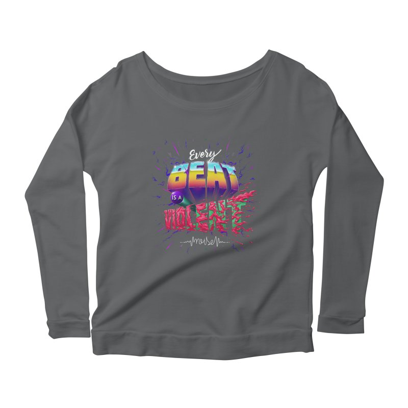 A Violent Noise Women's Longsleeve Scoopneck  by Astronauta Store