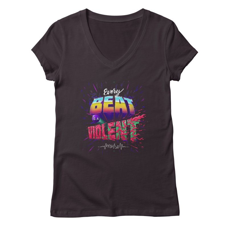 A Violent Noise Women's V-Neck by Astronauta Store