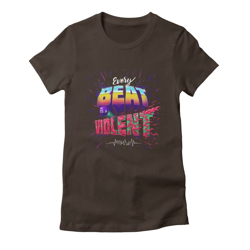 A Violent Noise Women's Fitted T-Shirt by Astronauta Store