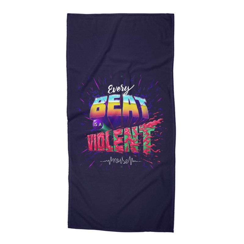 A Violent Noise Accessories Beach Towel by Astronauta Store