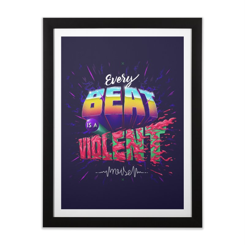 A Violent Noise Home Framed Fine Art Print by Astronauta Store