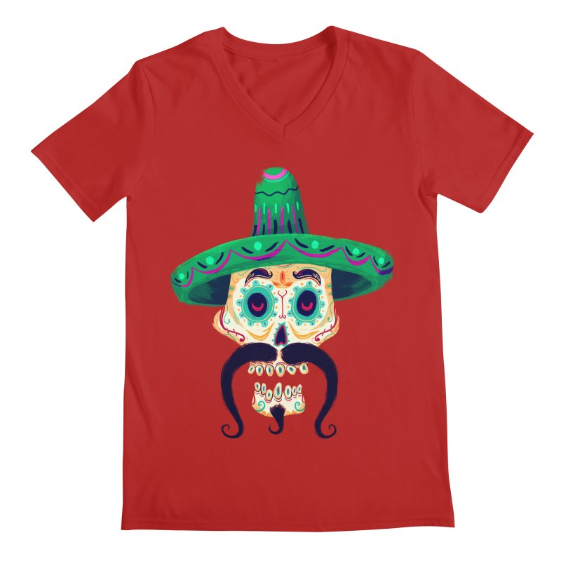 El Pistolero Men's V-Neck by Astronauta Store