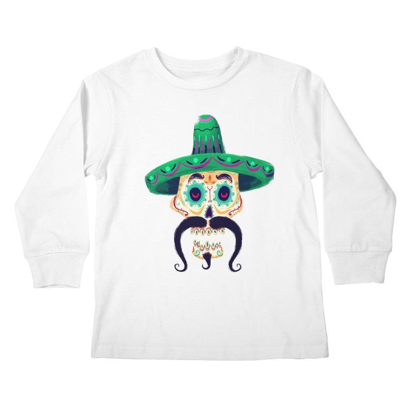 El Pistolero Kids Longsleeve T-Shirt by Astronauta Store