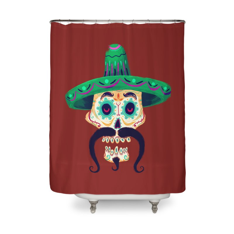 El Pistolero Home Shower Curtain by Astronauta Store