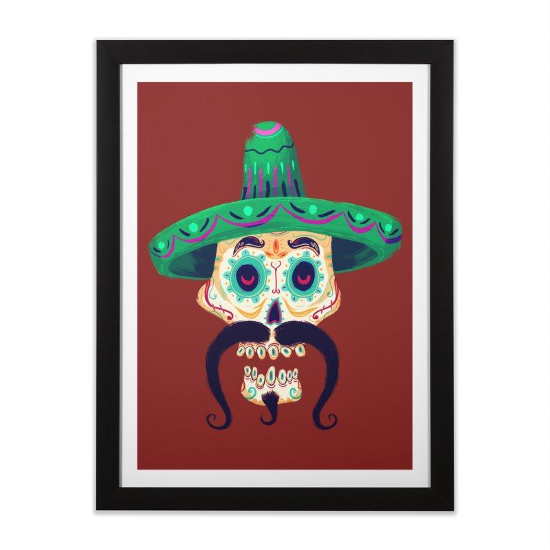 El Pistolero Home Framed Fine Art Print by Astronauta Store