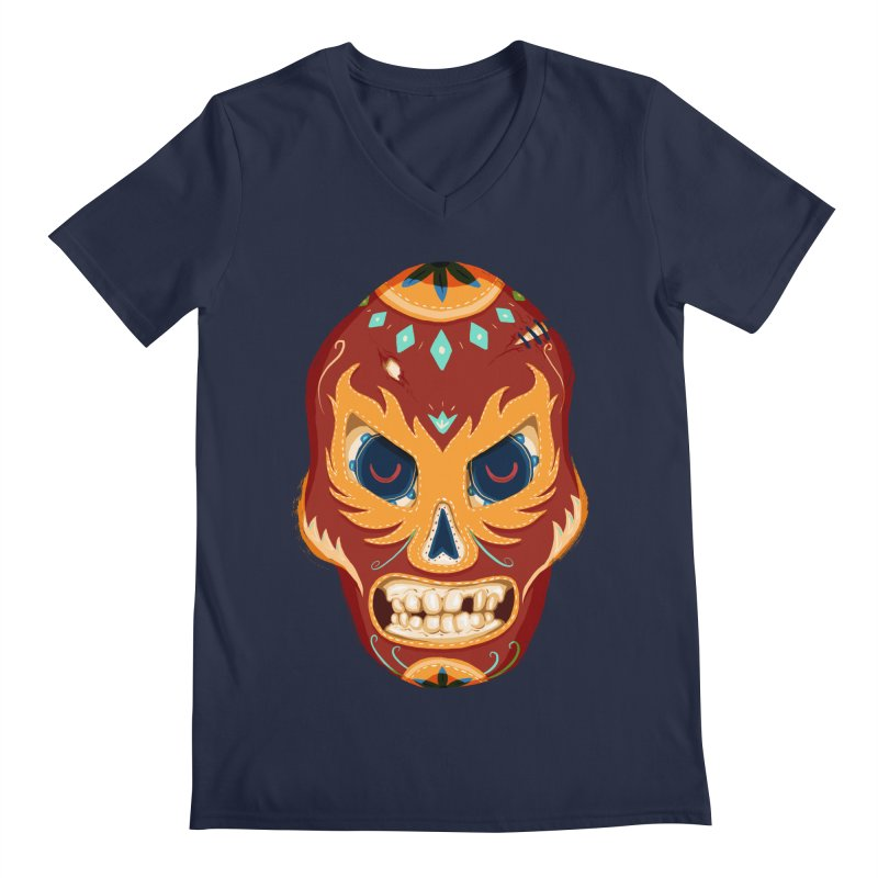 El Luchador Men's V-Neck by Astronauta Store