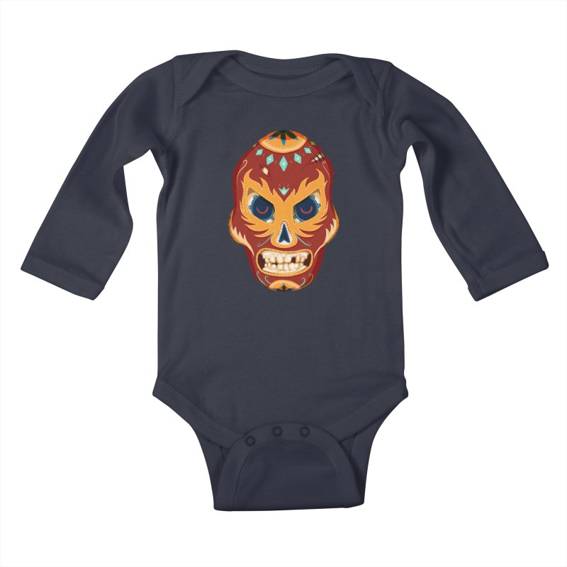 El Luchador Kids Baby Longsleeve Bodysuit by Astronauta Store