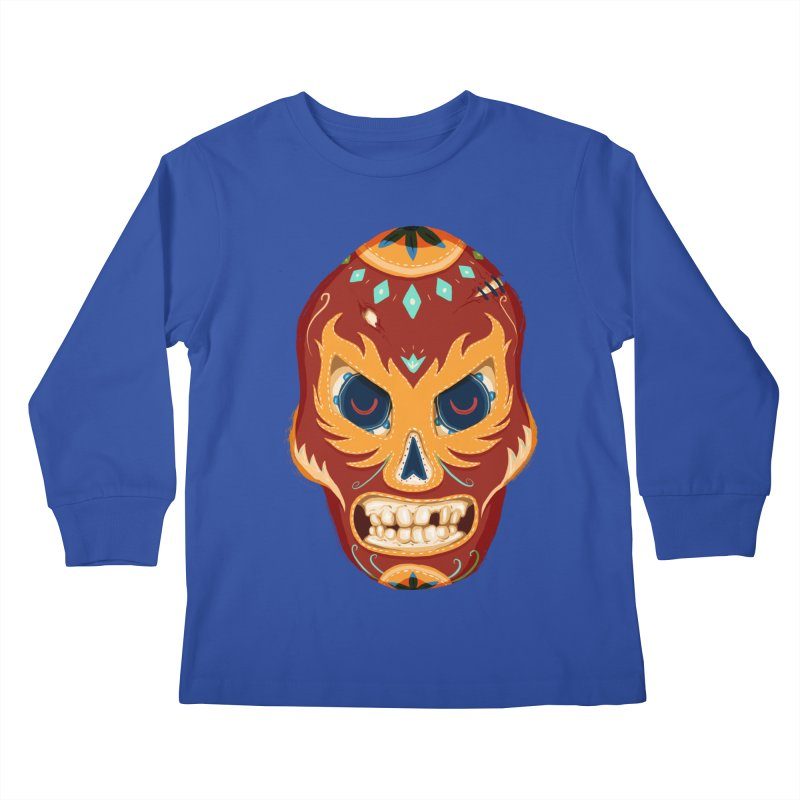 El Luchador Kids Longsleeve T-Shirt by Astronauta Store