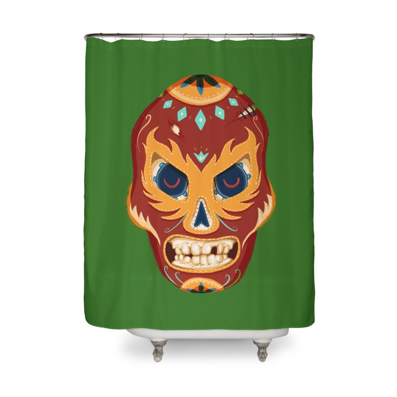 El Luchador Home Shower Curtain by Astronauta Store