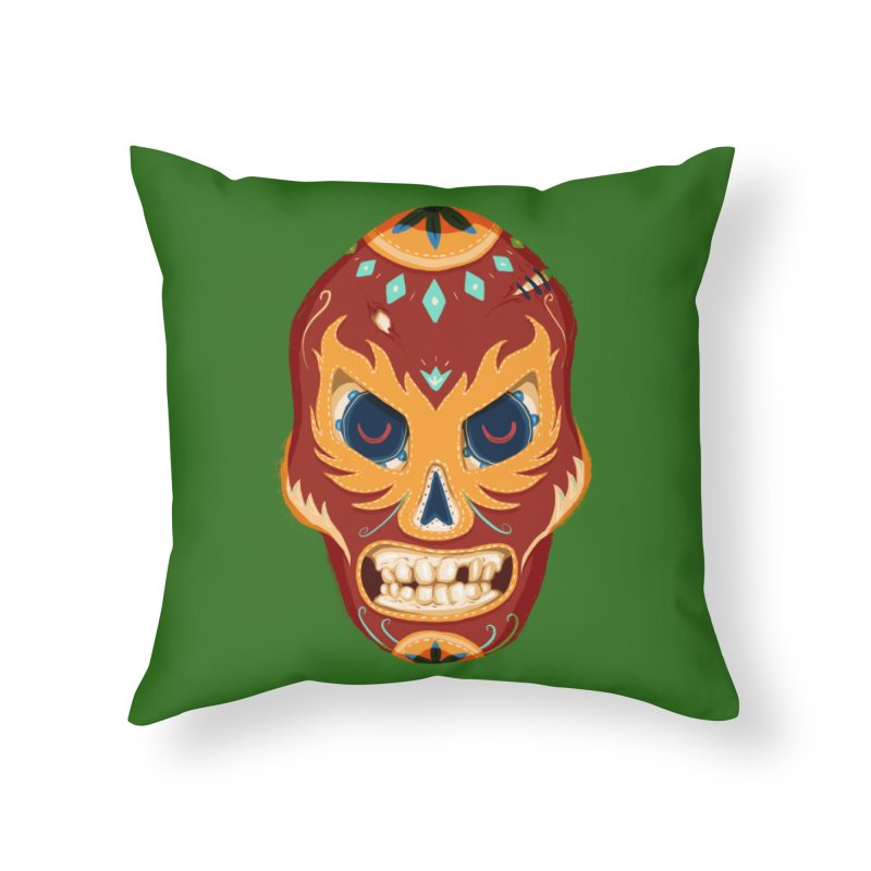 El Luchador Home Throw Pillow by Astronauta Store