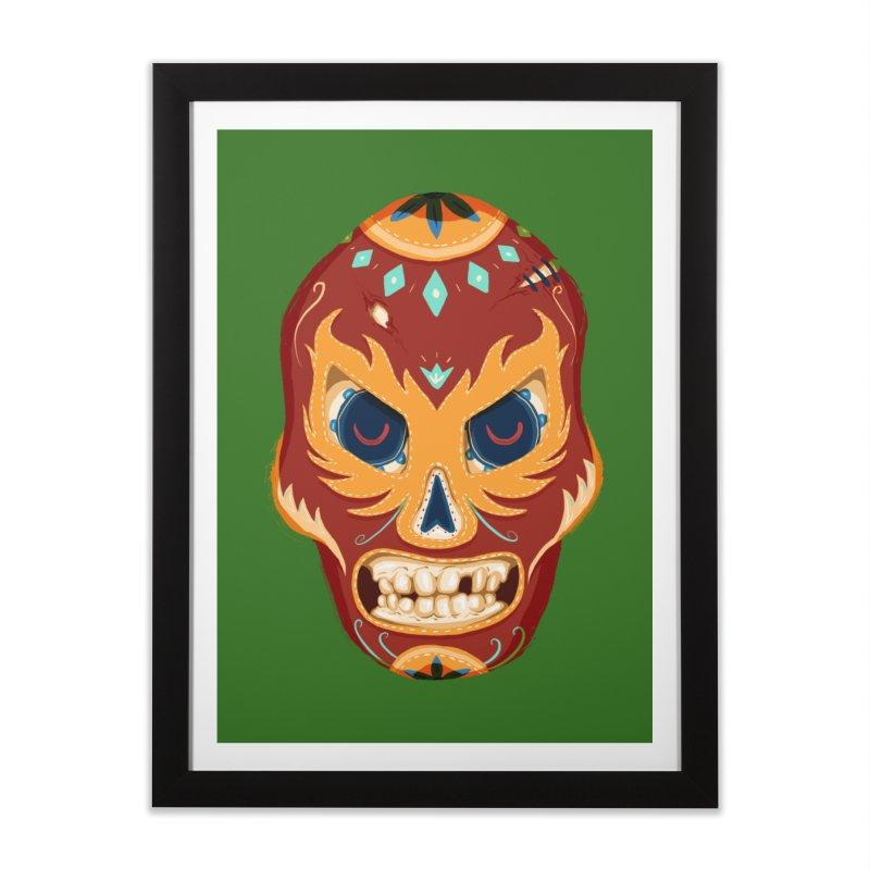 El Luchador Home Framed Fine Art Print by Astronauta Store