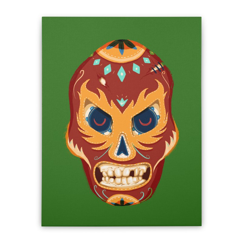 El Luchador Home Stretched Canvas by Astronauta Store