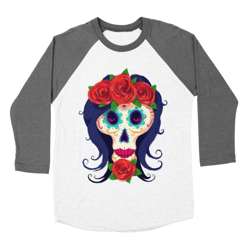 La Catrina Women's Baseball Triblend T-Shirt by Astronauta Store