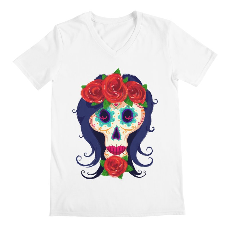 La Catrina Men's V-Neck by Astronauta Store