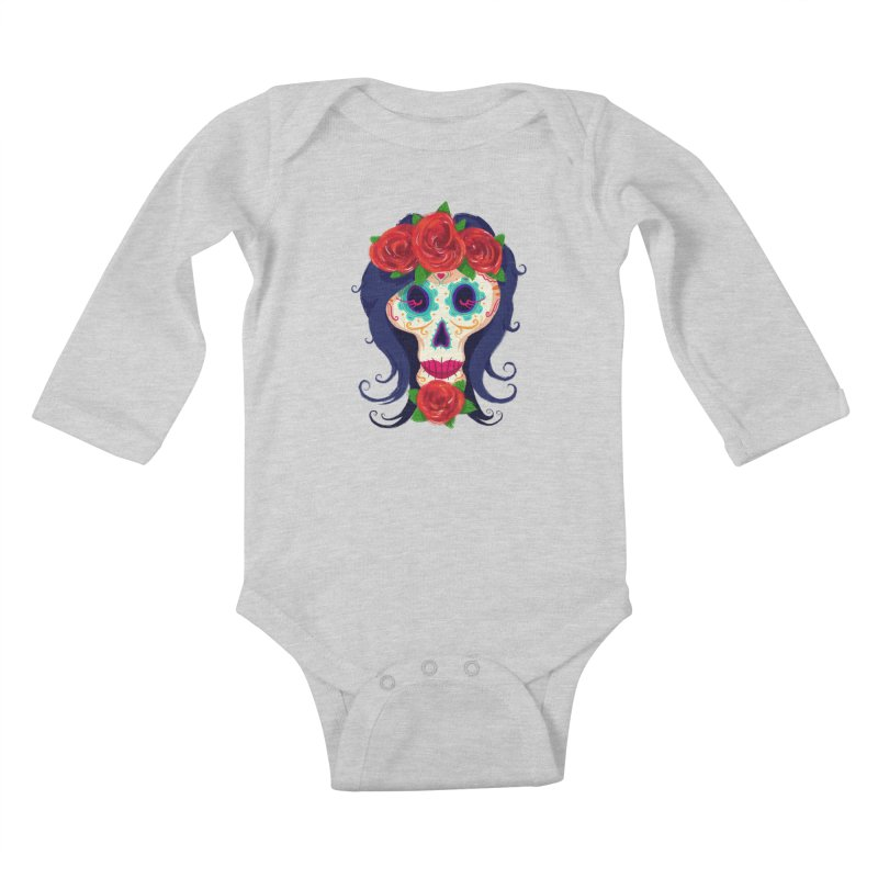 La Catrina Kids Baby Longsleeve Bodysuit by Astronauta Store