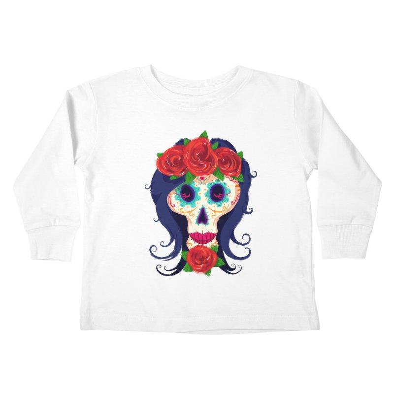 La Catrina Kids Toddler Longsleeve T-Shirt by Astronauta Store