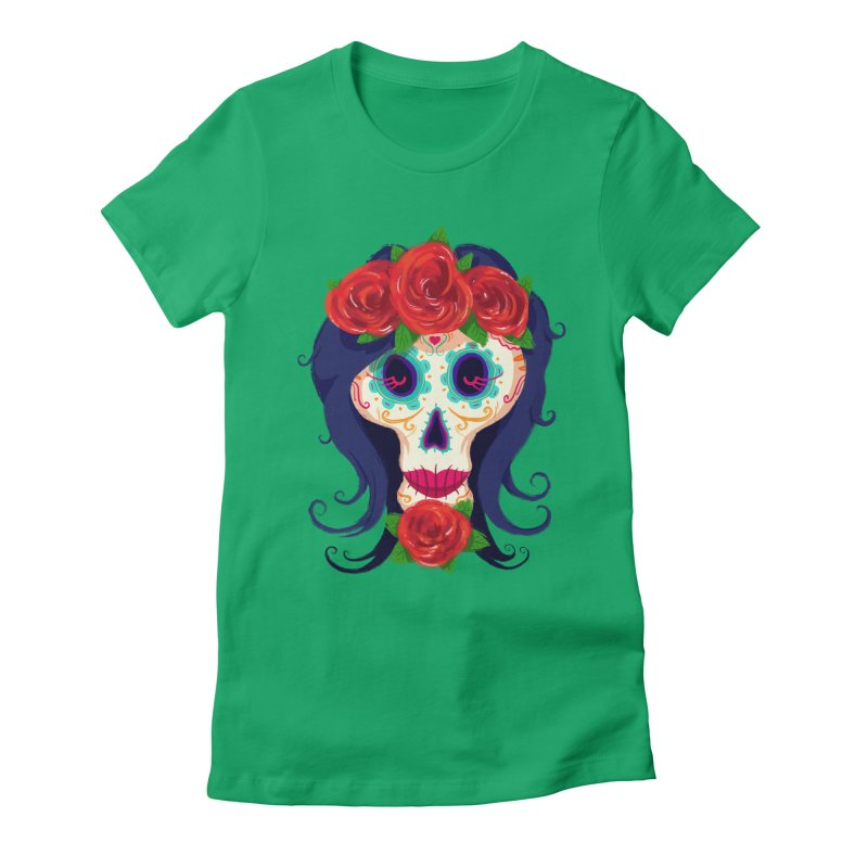 La Catrina Women's Fitted T-Shirt by Astronauta Store