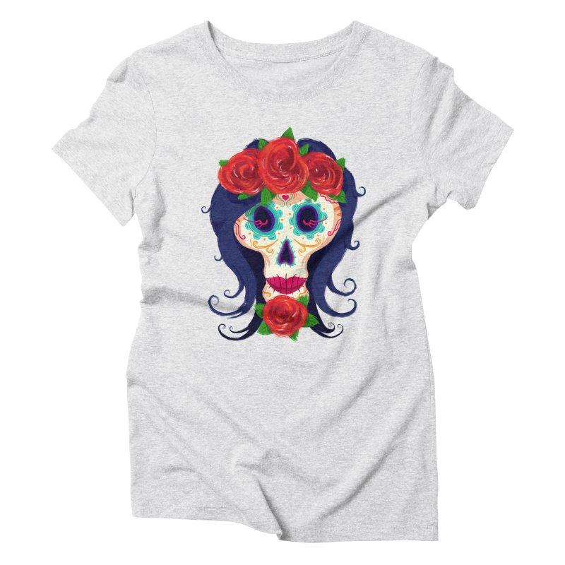 La Catrina Women's Triblend T-shirt by Astronauta Store