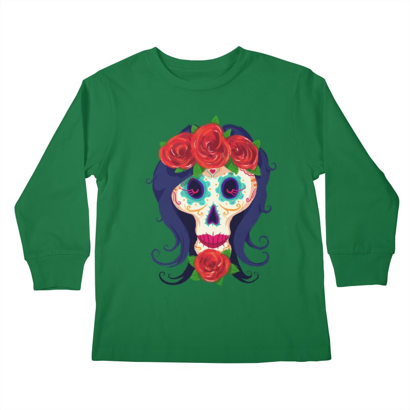 La Catrina Kids Longsleeve T-Shirt by Astronauta Store