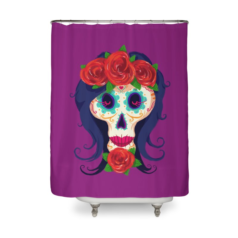 La Catrina Home Shower Curtain by Astronauta Store