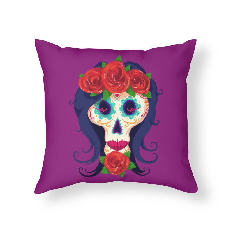 La Catrina Home Throw Pillow by Astronauta Store