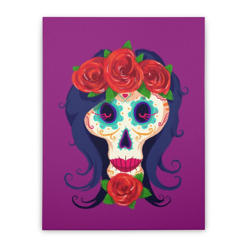 La Catrina Home Stretched Canvas by Astronauta Store